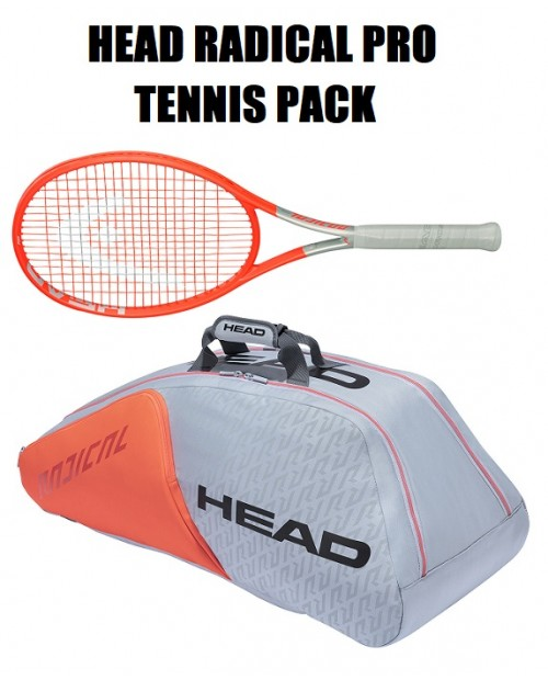 HEAD GRAPHENE 360+ RADICAL PRO + BORSA PORTARACCHETTE RADICAL X9 SUPERCOMBI TENNIS PACK